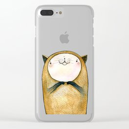 cutie cat Clear iPhone Case