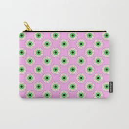 Psychobilly Eyeballs in Retro Pink Carry-All Pouch