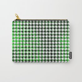 Houndstooth Green and Black Toned Pattern Carry-All Pouch