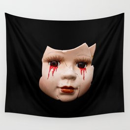 Blood Doll Face II Wall Tapestry
