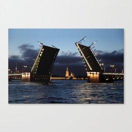 Palace Bridge by night. Canvas Print