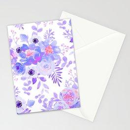 Lilac lavender violet pink watercolor elegant floral Stationery Cards