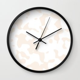 Large Spots - White and Linen Wall Clock
