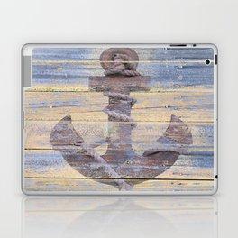 Rusty Anchor Grey Blue Beach Lake House Coastal Home Decor A177 Laptop & iPad Skin