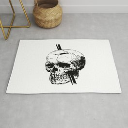 Skull of Phineas Gage With Tamping Iron Rug