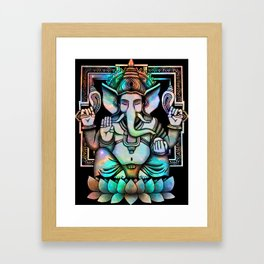 Cosmic Ganesh Framed Art Print