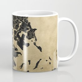 Boston Gold and Black Invert Coffee Mug