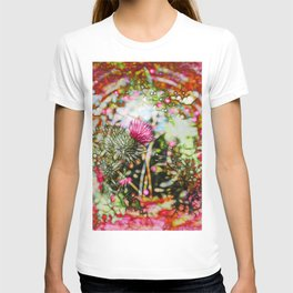 Vibrant abstract  thistle T-shirt
