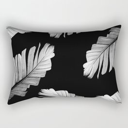 Tropical Gray White Banana Leaves Dream #2 #decor #art #society6 Rectangular Pillow