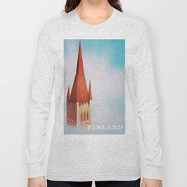 Finland church travel poster Long Sleeve T-shirt