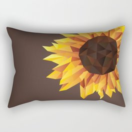 Polygonal Sunflower Rectangular Pillow