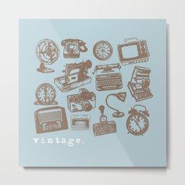 blue vintage  Metal Print