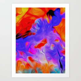 New Year Colours Art Print