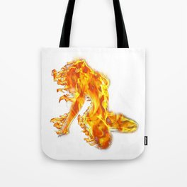 Fire Woman Tote Bag