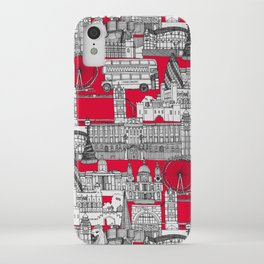 London toile red iPhone Case