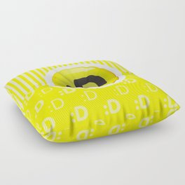 Yellow Writer's Mood Floor Pillow