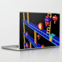 donkey kong Laptop & iPad Skins featuring Inside Donkey Kong stage 4 by Metin Seven