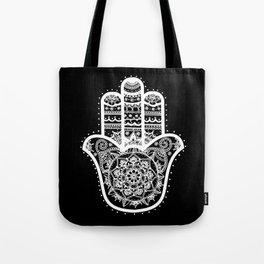 Black & White Hamsa Hand Tote Bag