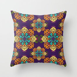 Ethnic Curlsley patterns-5 Throw Pillow