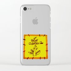 tree with a computer , telephone and other device Clear iPhone Case