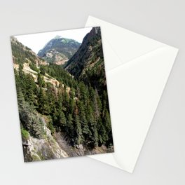 Driving the Spectacular, but Perilous Uncompahgre Gorge, No. 1 of 6 Stationery Cards