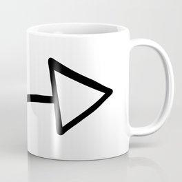 Romantic Love Arrow Doodle Coffee Mug