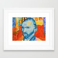 van gogh Framed Art Prints featuring van gogh by manish mansinh