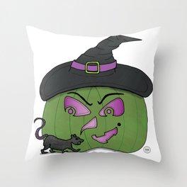 Witch Pumpkin Throw Pillow