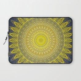 Bright Gold Navy Bohemian Mandala Laptop Sleeve