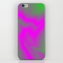 Blurry outlines of lightning with a swirling gap. iPhone Skin