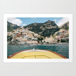 Amalfi Positano by Boat Art Print