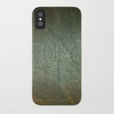 Brown and Green Wood Texture iPhone X Slim Case
