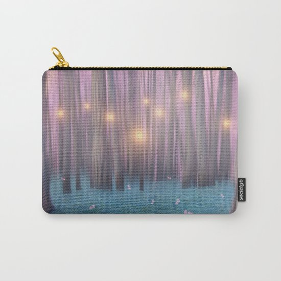 Pink feather dance Carry-All Pouch