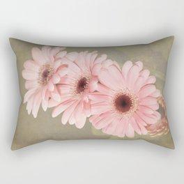 Four Pink Gerberas Rectangular Pillow