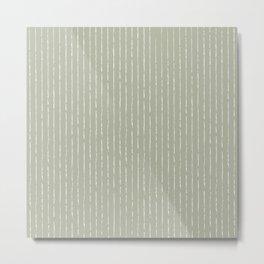 Lines II (Linen Sage) Metal Print