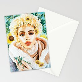 Miss Sunflower Stationery Cards