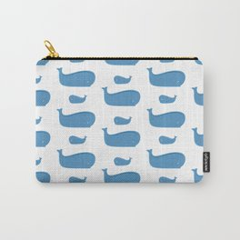 Sea pattern with whales Carry-All Pouch