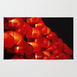 Vibrant red Chinese lanterns Rug