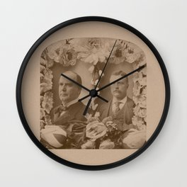 McKinley and Roosevelt Wall Clock