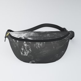 Black and white Jurassic period Fanny Pack