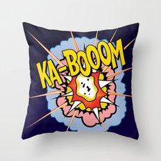 Ka Boom Pop Art Throw Pillow
