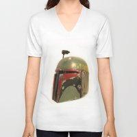 boba fett V-neck T-shirts featuring boba fett by McKenzie Nickolas