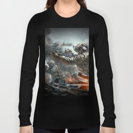 US Marines Devil-Dogs are marching on Long Sleeve T-shirt