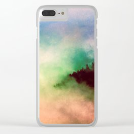 Ethereal Rainbow Clouds - Nature Photography Clear iPhone Case