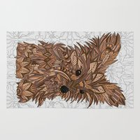 yorkie Area & Throw Rugs featuring Cute Yorkie by ArtLovePassion