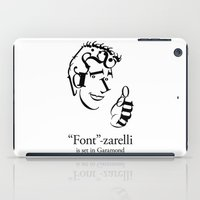 font iPad Cases featuring 'Font'-zarelli by Christian Bailey