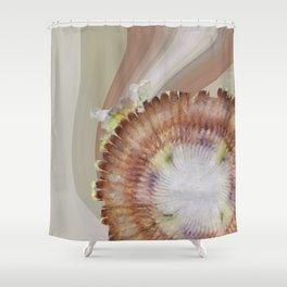 Zain Content Flowers  ID:16165-074458-48710 Shower Curtain
