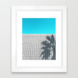 Parker Palm Springs with Palm Tree Shadow Framed Art Print
