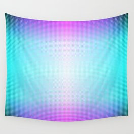 Five color blue, pink, purple, white, black ombre Wall Tapestry