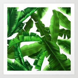 tropical banana leaves pattern Art Print